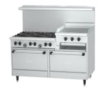 "Garland X60-6R24RR 60"" SunFire 6 Burner Gas Range with Griddle & Broiler, LP"