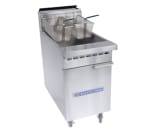 Bakers Pride BPF-6575 Gas Fryer - (1) 75 lb Vat, Floor Model, NG