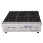 "Bakers Pride BPHHP-636I 36"" Gas Hotplate w/ (6) Burners & Manual Controls, LP"