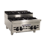 "Bakers Pride BPHHPS-424I 24"" Gas Hotplate w/ (4) Burners & Manual Controls, NG"