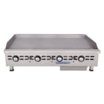 """Bakers Pride BPHTG-2448I 48"""" Gas Griddle - Thermostatic, 1"""" Steel Plate, NG"""