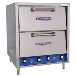 Bakers Pride P46S Countertop Pizza/Pretzel Oven - Double Deck, 208v/1ph