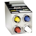 Dispense-rite CTCL2X2SS Cup Dispensing Cabinet, (4) 8 44 oz Cups, Top for Lids, Straws & Condiments