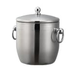 Service Ideas IB13BS 1.3-liter Ice Bucket w/ Double-Wall Insulation, Stainless