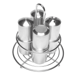 Service Ideas STOCFF Caddy w/ (4) 6-oz Dry Shakers, Stainless