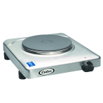 "Cadco KR-S2 11.5"" Electric Hotplate w/ (1) Burner & Infinite Controls, 120v"