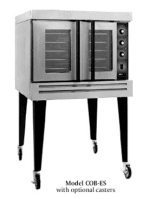 B.K.I. COB-ED Double Full Size Electric Convection Oven - 208v/1ph