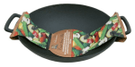 Chef Master / Mr. Bar B Q 06106P 18 in Classic Grill Topper Wok, Cast Iron