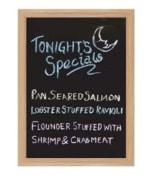 Chef Master / Mr. Bar B Q 90036 Scratch Resistant Chalk Board, Wooden Frame, 18 x 24-in