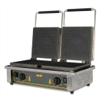 Equipex GED40 Double Cone Waffle Baker w/ Drip Tray - Stainless, 220v/1ph
