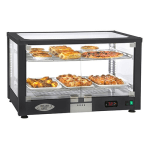 """Equipex WD780B-2/1 30.5"""" Full-Service Countertop Heated Display Case w/ Straight Glass - (2) Shelves, 120v"""