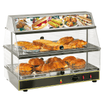 "Equipex WDL-200 24"" Self-Service Countertop Heated Display Case - (2) Levels, 120v"