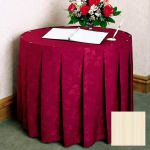 Snap Drape 5FSMEL63030 IVRY 6 ft Melrose Fitted Table Cover Set w/ Continuous Pleat, Ivory