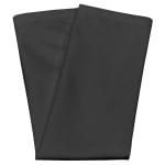 """Snap Drape NAPCL20MBLK 20"""" Square Hemmed Napkin - Polyester, Black"""