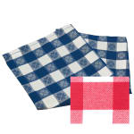 "Snap Drape NAPVCH1717OPL 17"" Overlocked Visa Checkpoint Napkin - Polyester, Red & White"