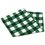 "Snap Drape NAPVCH2020OF 20"" Overlocked Visa Checkpoint Napkin - Polyester, Green & White"