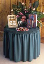 Snap Drape SEQ1V1329 BLK Sequel 13-ft Table Skirt, Shirred, Velcro Attachment, Black
