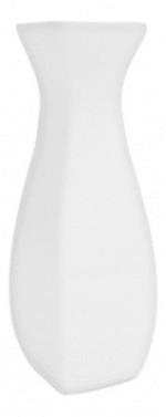 Mayfair 409 7-in Square Porcelain Bloc Vase, White