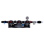 3M Cuno 6228403 DP3XX Dual Port Triple Manifold Assembly