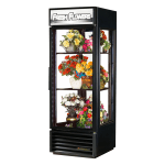 True G4SM-23FC-HC~TSL01 1-Section Floral Cooler w/ Swinging Door, Black, 115v