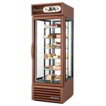 "True G4SM-23-RGS-LD 28"" Self Service Bakery Case w/ Straight Glass - (6) Levels, Bronze, 115v"