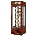 """True G4SM-23RGS~TSL01 27.5"""" One-Section Glass Door Merchandiser w/ Swinging Door, Bronze, 115v"""