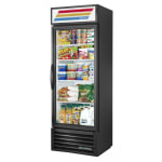 "True GDM-19T-HC~TSL01 27"" One-Section Glass Door Merchandiser w/ Swing Door, Black, 115v"