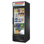"True GDM-23-HC~TSL01 27"" One-Section Glass Door Merchandiser w/ Swing Door, Black, 115v"
