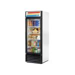 "True GDM-23-HC~TSL01 LH 27"" One-Section Glass Door Merchandiser w/ Left Swing Door, White, 115v"