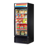 "True GDM-26F-HC~TSL01 30"" One-Section Display Freezer w/ Swinging Door - Bottom Mount Compressor, Black, 115v"