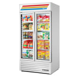 "True GDM-35F~TSL01 39.5"" Two-Section Display Freezer w/ Swinging Doors - Bottom Mount Compressor, White, 115v"