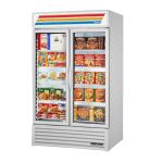 "True GDM-43F-HC~TSL01 47.13"" Two-Section Display Freezer w/ Swinging Doors - Bottom Mount Compressor, 115v"