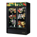 True GDM-47FC-HC-LD 2 Section Floral Cooler w/ Sliding Door - Black, 115v