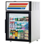 "True GDM-05-HC-LD 24"" Countertop Refrigerator w/ Front Access - Swing Door, White, 115v"