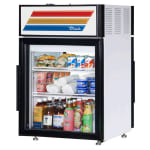 "True GDM-05PT-HC-LD 24"" Countertop Refrigerator w/ Pass Thru Access - Swing Door, White, 115v"