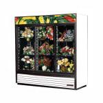 True GDM-69FC-HC-LD 3 Section Floral Cooler w/ Sliding Door - White, 115v