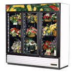 True GDM-72FC-HC~TSL01  3-Section Floral Cooler w/ Swinging Door - White, 115v