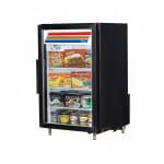"True GDM-07F-HC~TSL01 24"" One-Section Display Freezer w/ Swinging Door - Rear Mount Compressor, Black, 115v"