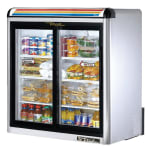 "True GDM-09-S-LD 36"" Countertop Refrigerator w/ Front Access, Sliding Door, Stainless, 115v"