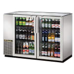 "True TBB-24GAL-48G-S-HC-LD 48"" (2) Section Bar Refrigerator - Swinging Glass Doors, 115v"