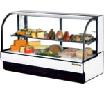 "True TCGR-77-CD 78"" Full Service Deli Case w/ Curved Glass - (2) Levels, 115v"