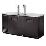 "True TDD-3-HC 69"" Draft Beer System w/ (3) Keg Capacity - (2) Columns, Black, 115v"