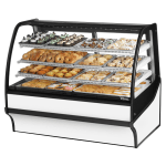 "True TDM-DC-59-GE/GE-W-W 59.25"" Full-Service Dry Bakery Case w/ Curved Glass - (4) Levels, 115v"