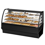 "True TDM-DC-77-GE/GE-W-W 77.25"" Full-Service Dry Bakery Case w/ Curved Glass - (4) Levels, 115v"