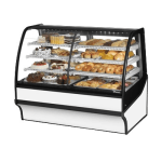 "True TDM-DZ-59-GE/GE-S-W 59.25"" Full-Service Dual-Zone Bakery Case w/ Curved Glass - (4) Levels, 115v"