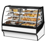 "True TDM-DZ-59-GE/GE-W-W 59.25"" Full-Service Dual-Zone Bakery Case w/ Curved Glass - (4) Levels, 115v"
