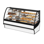 "True TDM-DZ-77-GE/GE-S-W 77.25"" Full-Service Dual-Zone Bakery Case w/ Curved Glass - (4) Levels, 115v"