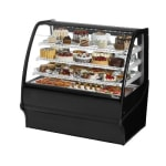 "True TDM-R-48-GE/GE-S-S 48.25"" Full-Service Bakery Case w/ Curved Glass - (4) Levels, 115v"