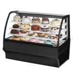 "True TDM-R-59-GE/GE-B-W 59.25"" Full-Service Bakery Case w/ Curved Glass - (4) Levels, 115v"