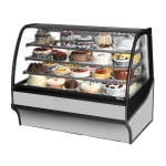"True TDM-R-59-GE/GE-S-S 59.25"" Full-Service Bakery Case w/ Curved Glass - (4) Levels, 115v"